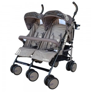 Baby Stroller Twin Lux Brown 7801-182
