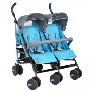 Baby Stroller Twin Lux  Blue 7801-181