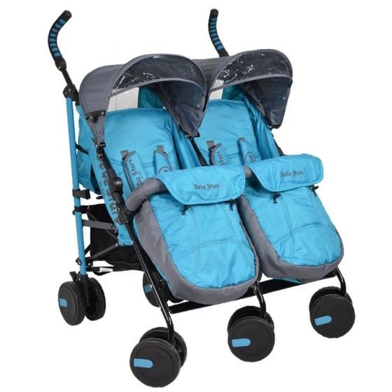 Baby Stroller Twin Lux  Blue 7801-181