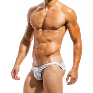 Men's swimwear low cut brief GS1812_grey