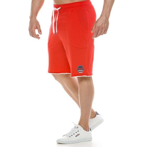 Ανδρική αθλητική  βερμούδα κόκκινο 2123_red