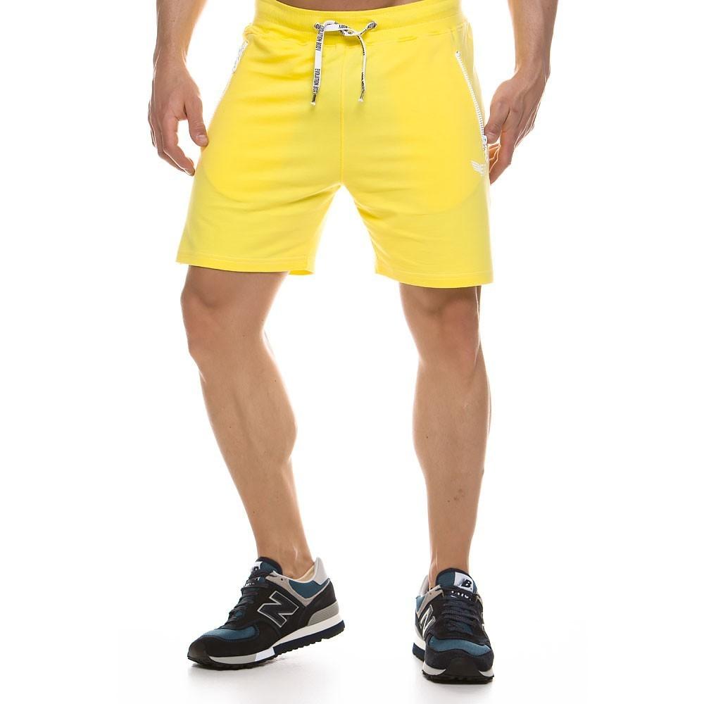 Ανδρική αθλητική  βερμούδα κίτρινο 2153_yellow
