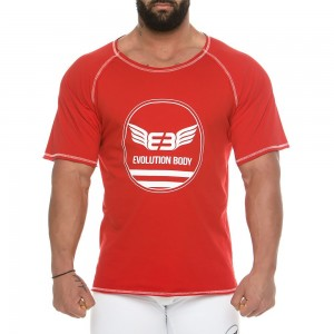 Men's short sleeve sweatshirt 2136_red