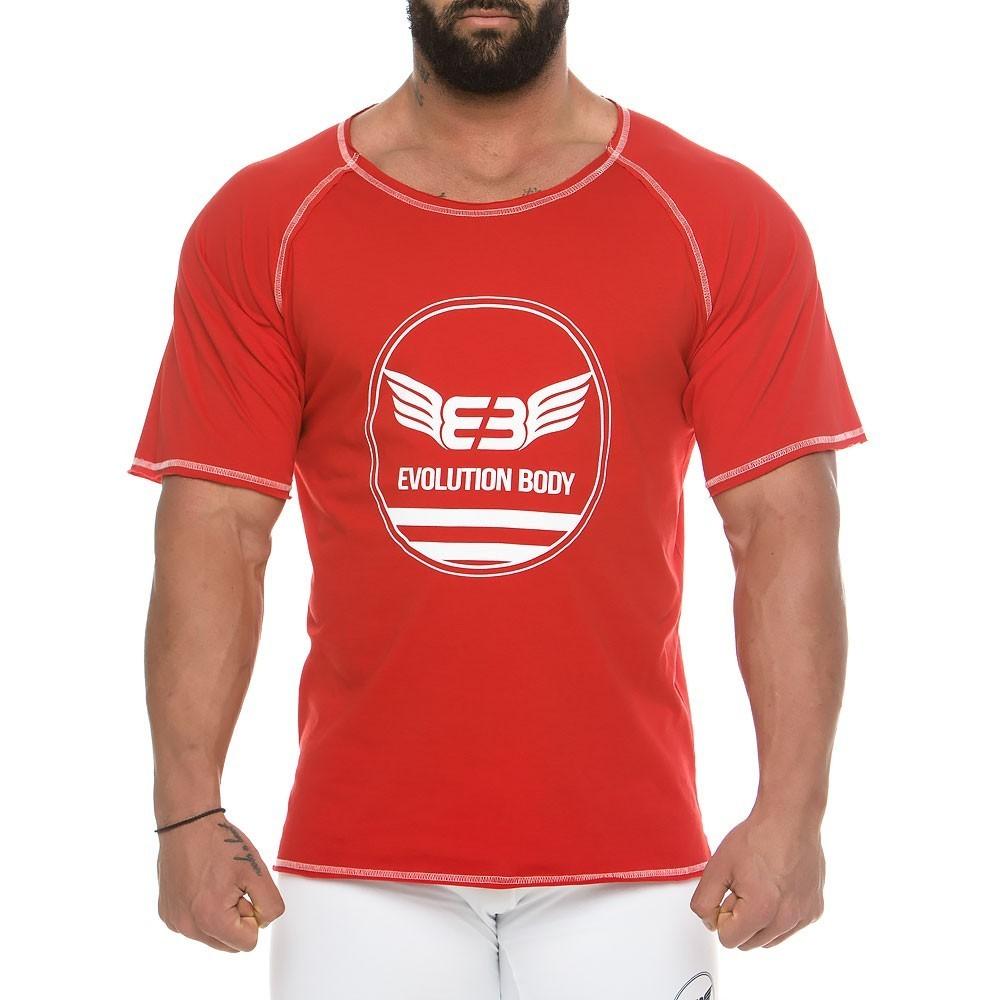 Men's short sleeve sweatshirt 2136_red