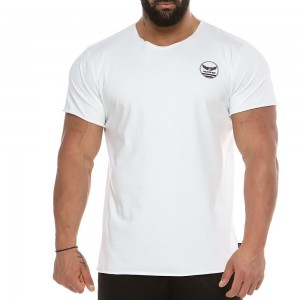 Men's short sleeve sweatshirt 2134_white