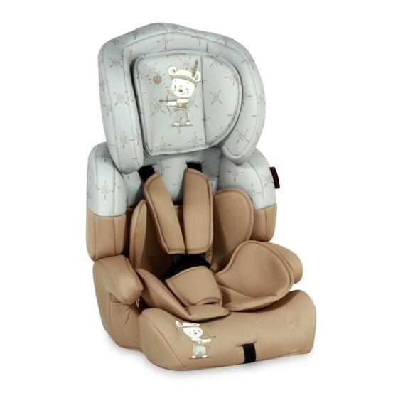 Children's Car Seat  JUNIOR PLUS Beige&Grey Indian Bear