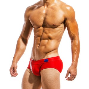 Men's Swimwear brief MS1811_red