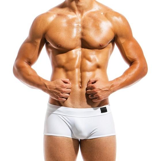 Ανδρικό μαγιό Brazil Cut Boxer λευκό ΜS1821_white