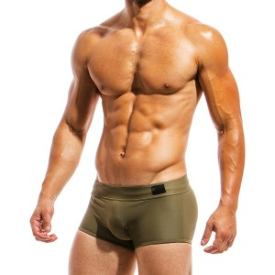 Ανδρικό μαγιό Brazil Cut Boxer χακί ΜS1821_chaki