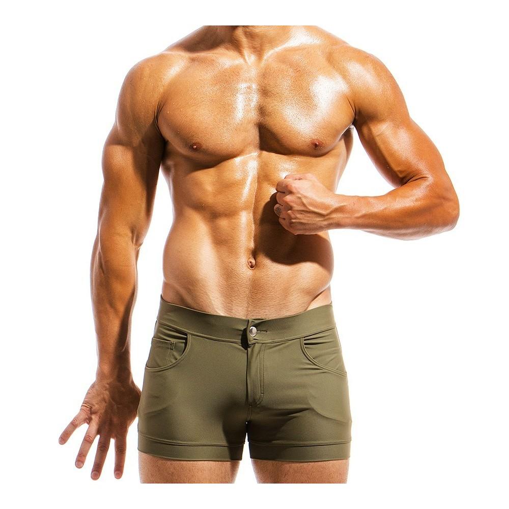 Men's swimwear short MS1831_chaki