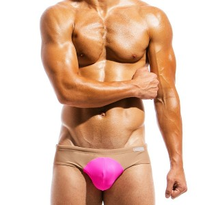 Men's Swimwear brief IS1812_fucshia