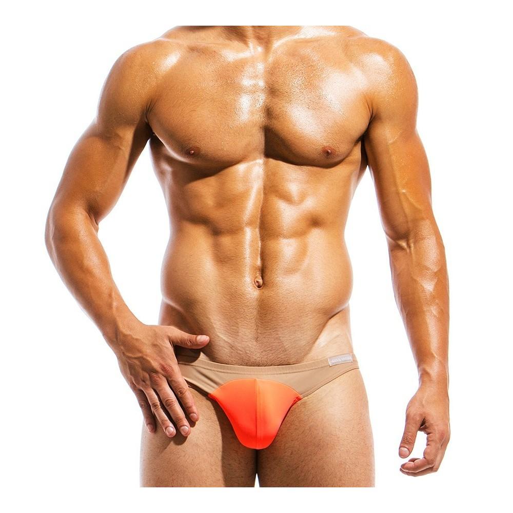 Ανδρικό μαγιό low cut σλιπ πορτοκαλί IS1811_orange