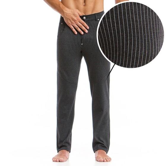 Ανδρικό παντελόνι ριγέ μαύρο striped 14762