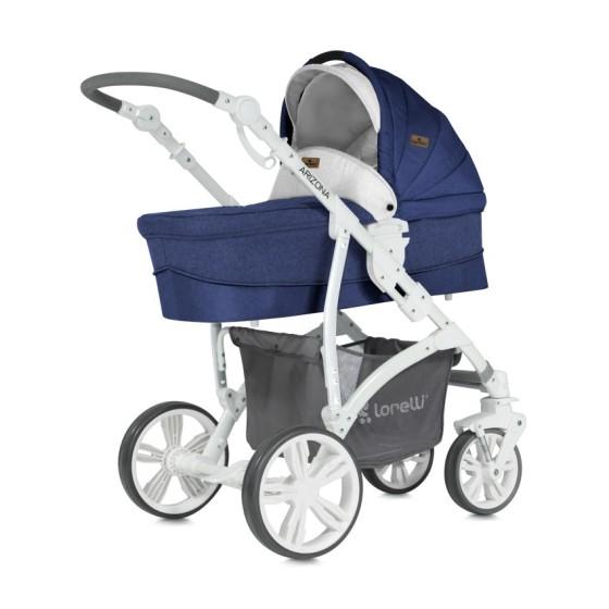 Children's Combi Stroller ARIZONA 3 in 1 Blue with Car Seat