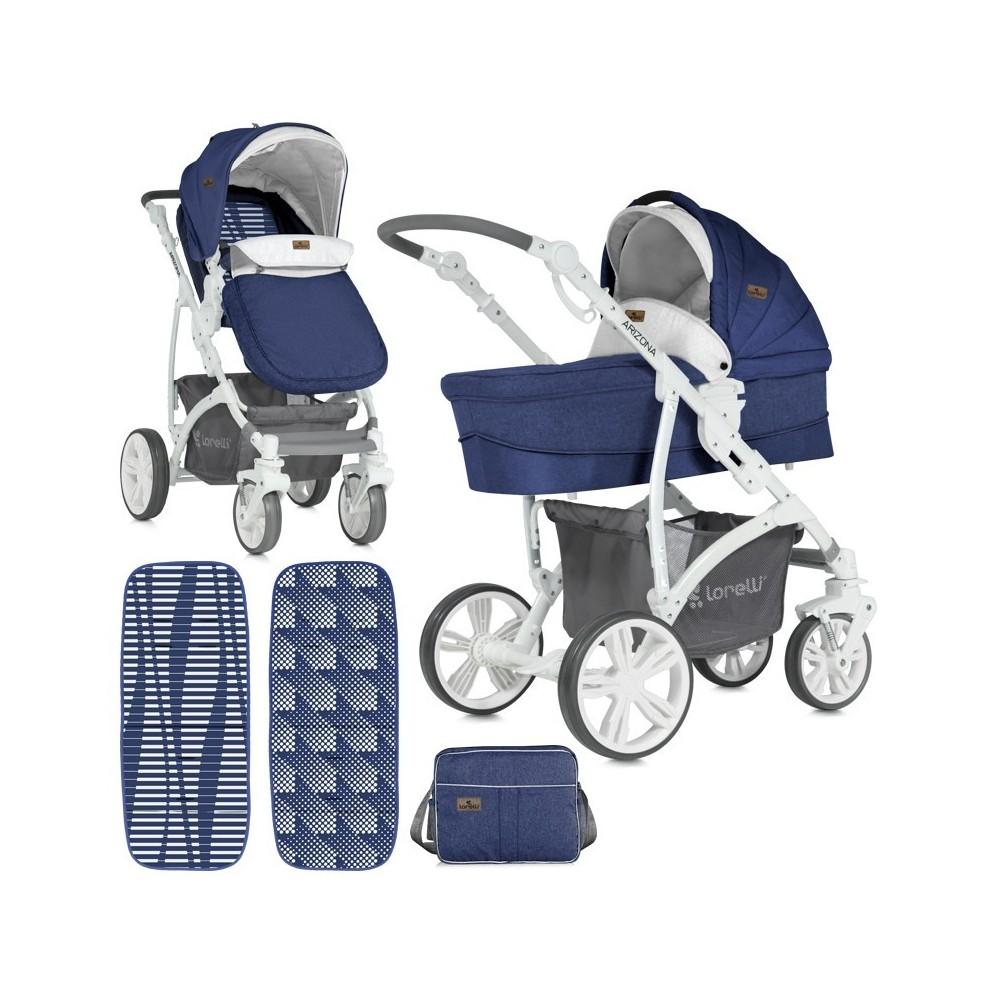 Παιδικό καρότσι ARIZONA 3 in 1 Blue Αναστρέψιμο με πόρτ μπεμπέ και κάθισμα αυτοκινήτου