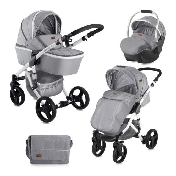 Children's Combi Stroller RIMINI 3 σε 1 Grey with Car Seat