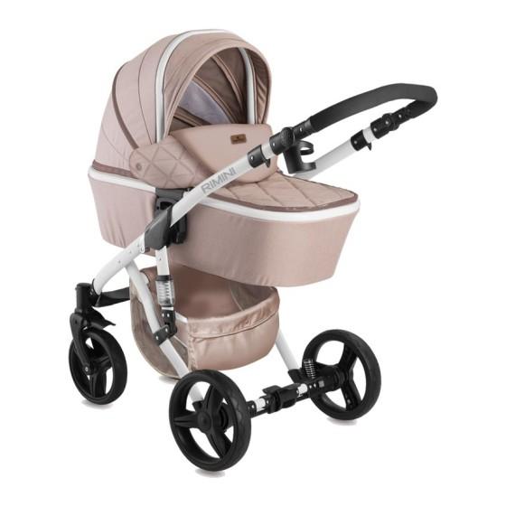 Children's Combi Stroller RIMINI 3 σε 1 Beige with Car Seat