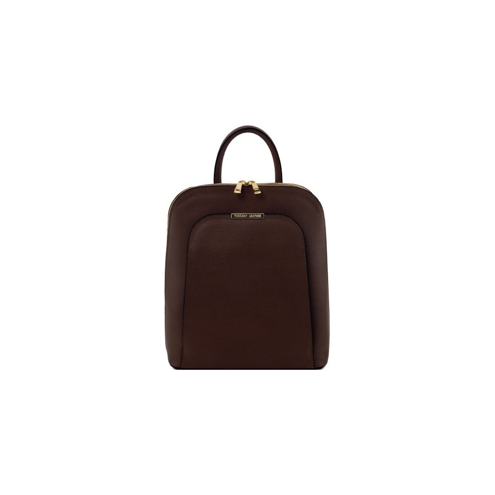 Women's Leather Backpack Coffee