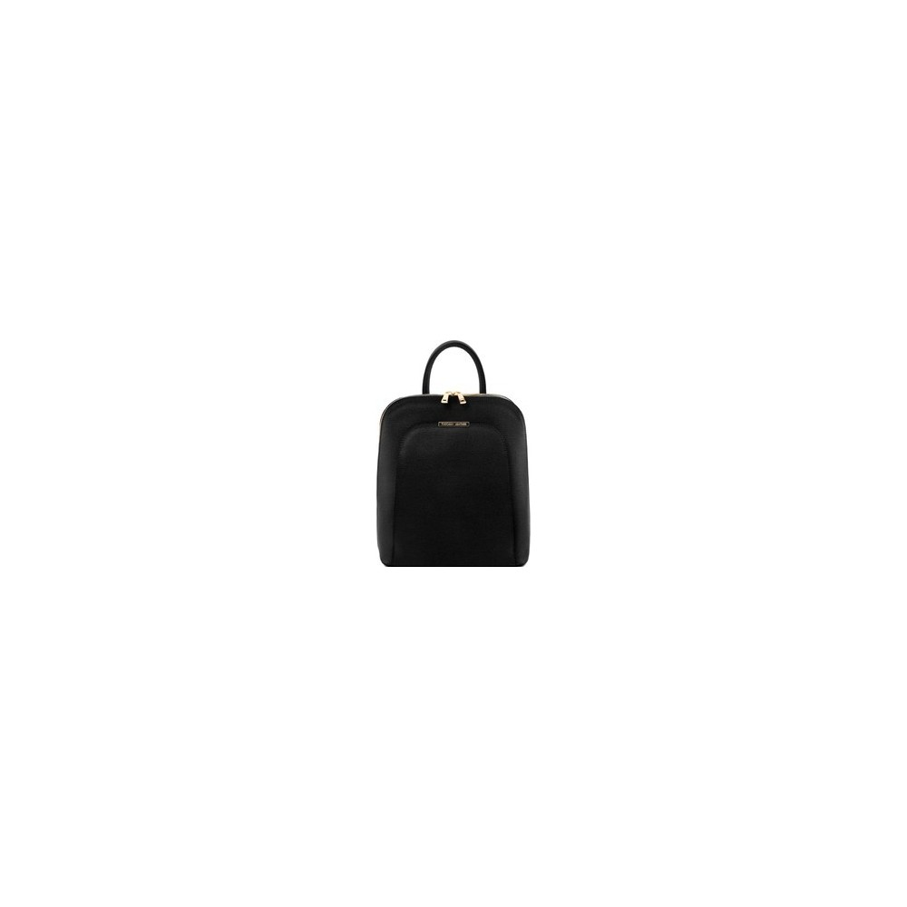 Women's Leather Backpack Black