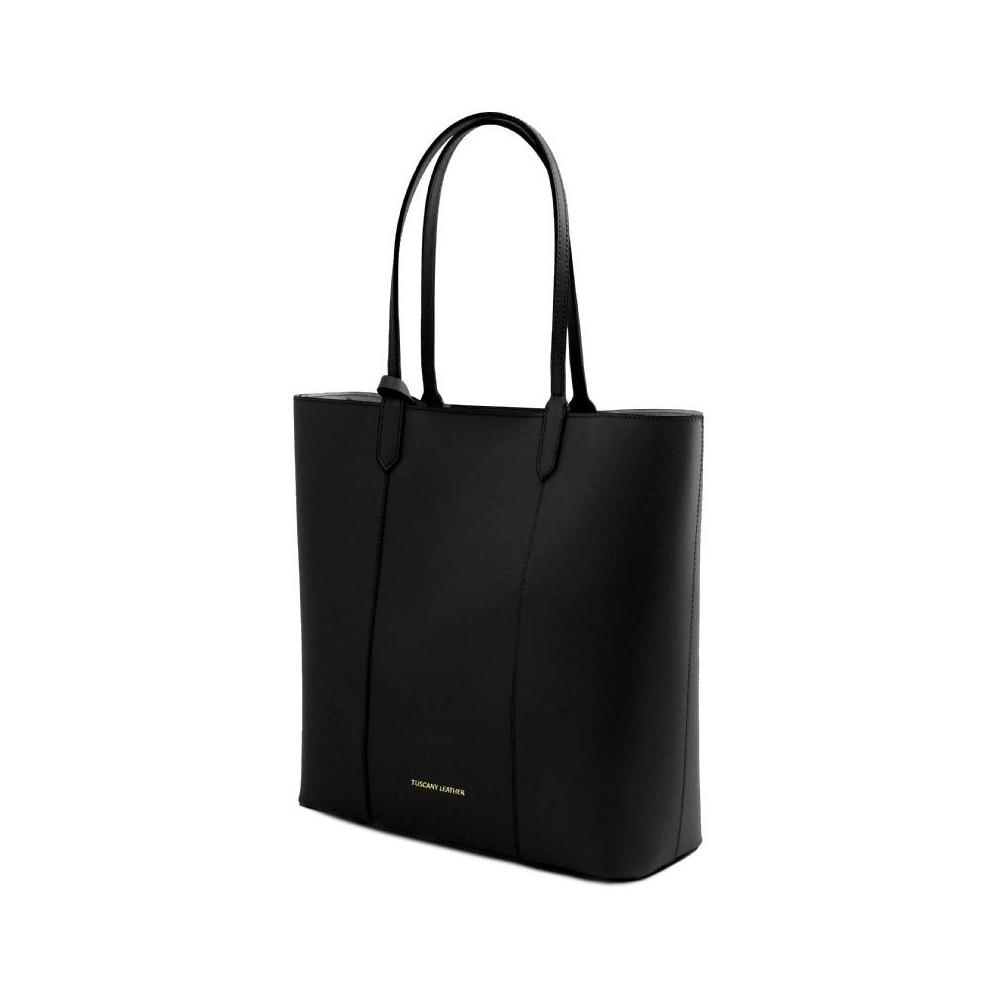 Women's Shoulder Bag Dafne Leather Black