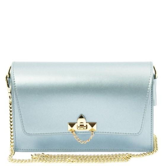 Women's Leather Pouch TL141654 Light Blue