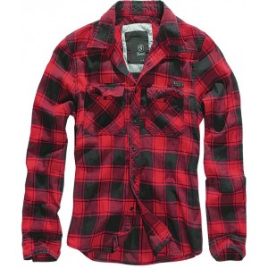 Men's Checkered Shirt  CHECKSHIRT Red-Black