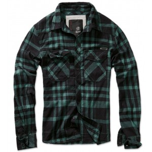 Men's Checkered Shirt  CHECKSHIRT Black-Green