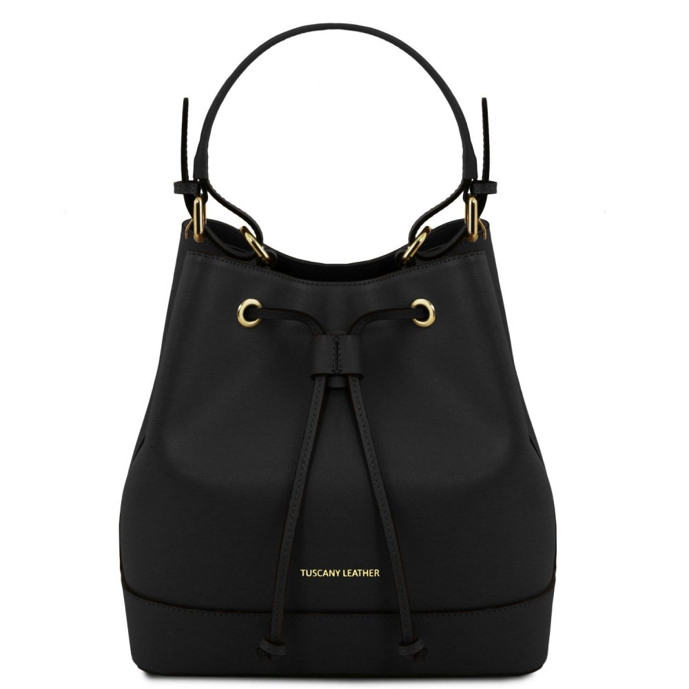 Women's Leather Minerva Bag Black