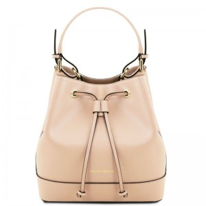 Women's Leather Minerva Bag Nude