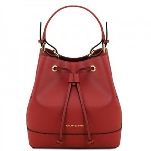 Women's Leather Minerva Bag Red