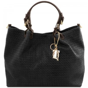 Women's Leather Bag  TL Keyluck Black