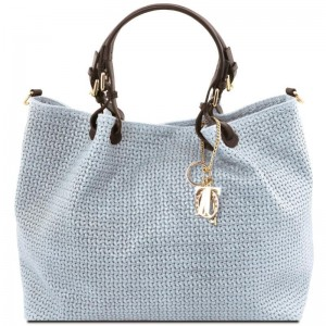 Women's Leather Bag  TL Keyluck Light Blue