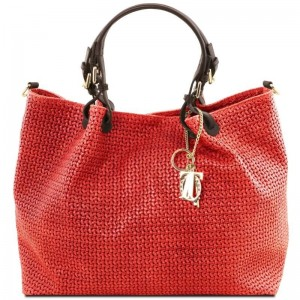 Women's Leather Bag TL Keyluck  Lipstick