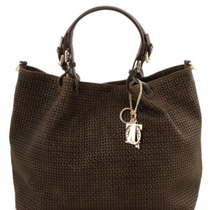 Women's Leather Bag TL Keyluck Brown