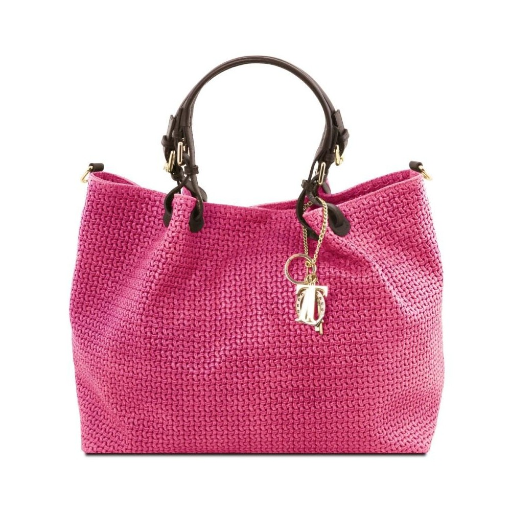 Women's Leather Bag TL Keyluck Magenta