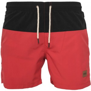 MEN'S SWIMSHORT BLOCK RED / BLACK TTF TB1026 Red-Black