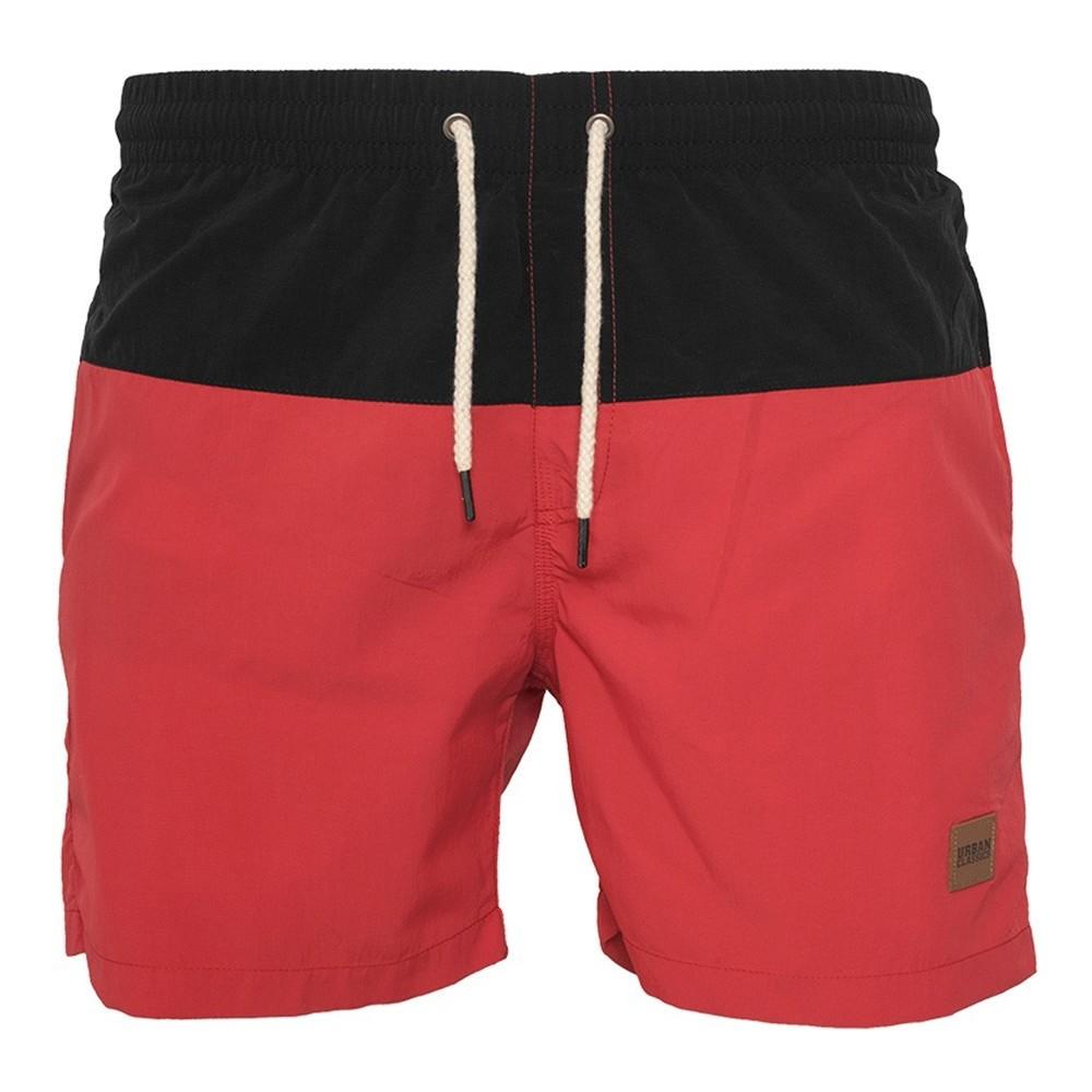 MEN'S SWIMSHORT BLOCK RED / BLACK TTF TB1026 Red-Black