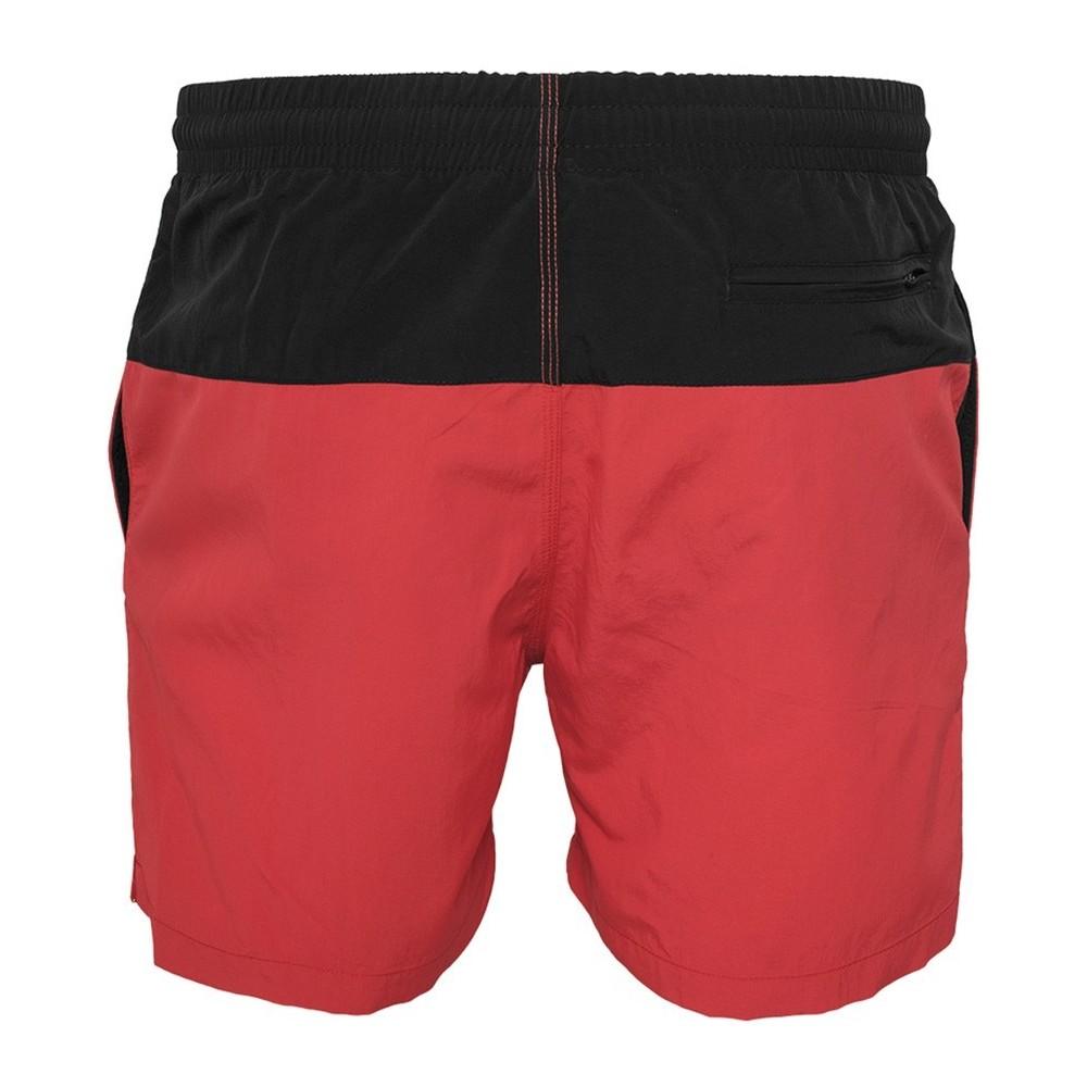de7725c5dafa Ανδρικό μαγιό σορτς μαύρο κόκκινο TB1026 Red-Black