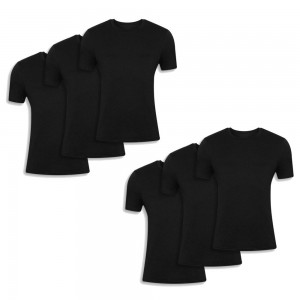 Men's t-shrt 6 Pack Black 042-6