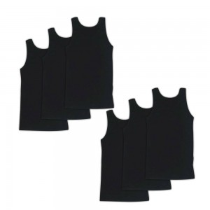 Men's tanktop 6 Pack Black 023-6