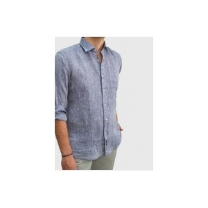 Men's Linen shirt blue Q681-MS