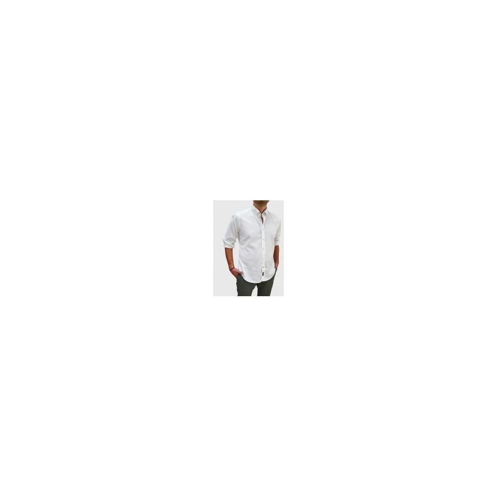 Ανδρικό Oxford πουκάμισο slim fit λεύκο Q607-MS 7354a64655e
