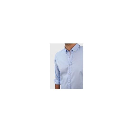 Ανδρικό Oxford πουκάμισο slim fit ανοιχτό μπλέ Q607-MS 62be031e923