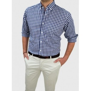 Men's Checked shirt regular fit Q666-MS
