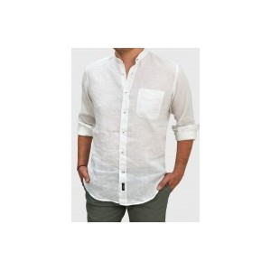Men's Linen stand up collar RΑΙΜ Q680-MS