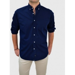 Men's Blue shirt button down Q670-MS