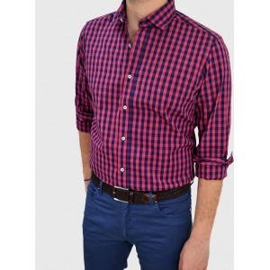 Men's Checked slim fit Q649-MS