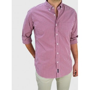 Men's  Micro checked shirt  Q644-MS