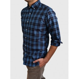 Men's  Checked shirt regular fit Q654-MS