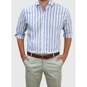 Men's Striped shirt  Q684-MB